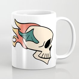 Flaming Flying Skull Coffee Mug