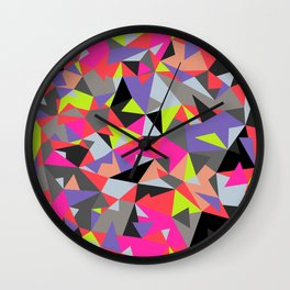 Crystal cube Wall Clock