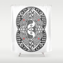 Vesica Piscis Shower Curtain