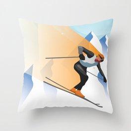 SKIING Throw Pillow