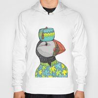 puffin Hoodies featuring Fancy Puffin by Sharon Mann