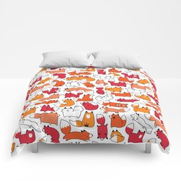 Foxy Foxes Doodle Comforters