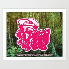 How to Make Sticker Art for Cheap Art Print