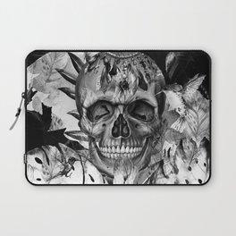 Black White Boho Skull Laptop Sleeve