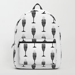 Save water, drink champagne Backpack