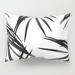 Black Palm Leaves Dream #1 #tropical #decor #art #society6 Pillow Sham