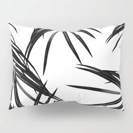 Black Palm Leaves Dream #1 #tropical #decor #art #society6 Pillow Sham