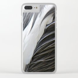 Textura: Grey Crowned Crane Feathers Clear iPhone Case