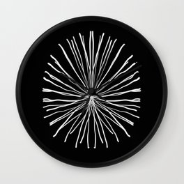 White Coral Wall Clock
