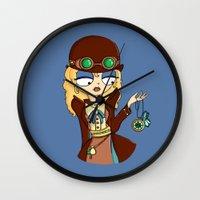 steampunk Wall Clocks featuring Steampunk by Laura Meg
