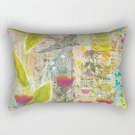 Purple Coneflower and Poppies Rectangular Pillow