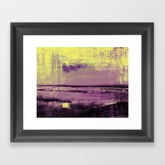 Yellow Color Patches Framed Art Print