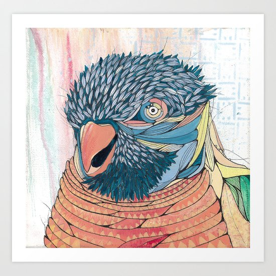 Shinsighbashi Bird Art Print