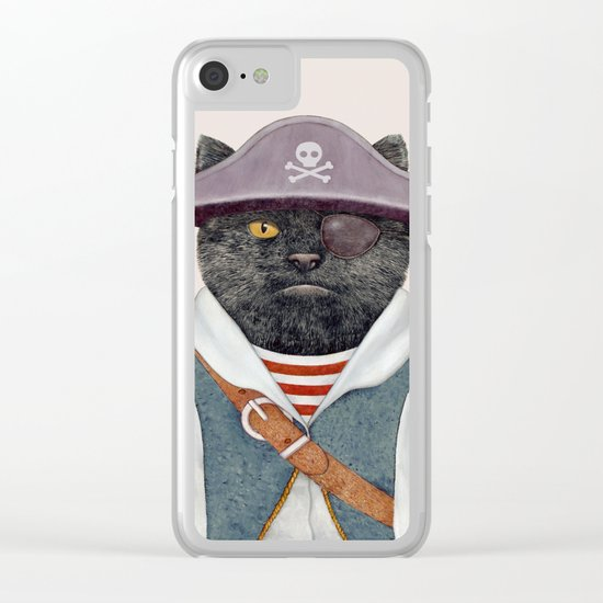Pirate Cat Clear iPhone Case