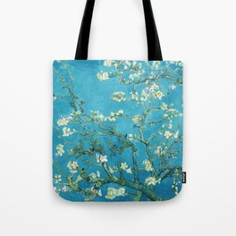 Vincent van Gogh Blossoming Almond Tree (Almond Blossoms) Light Blue Tote Bag