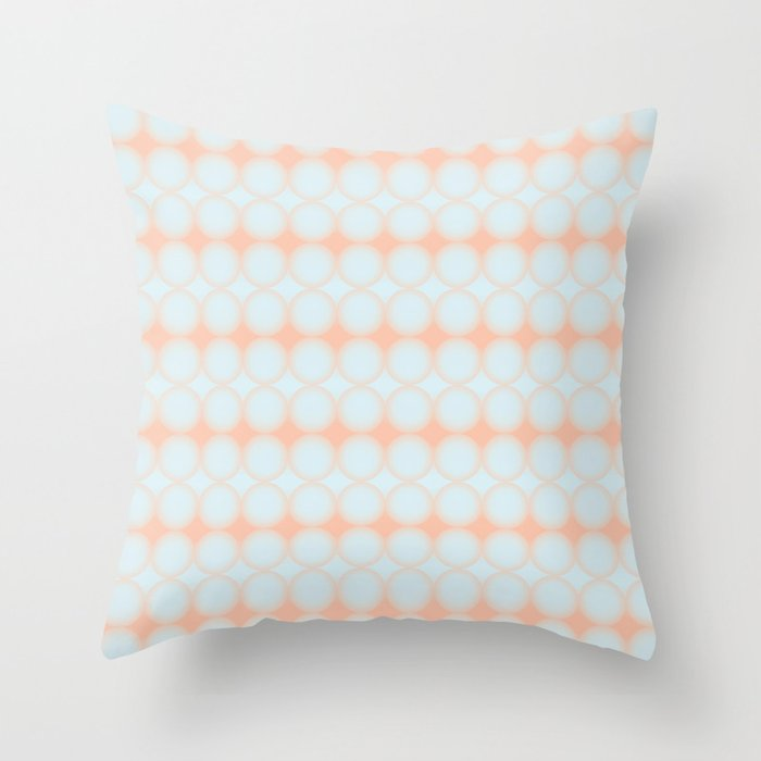 Pastel Pattern Dots And Gradient Baby Blue And Peach Orange Throw
