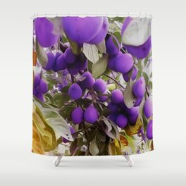 Autumn Harvest Days Plums Shower Curtain