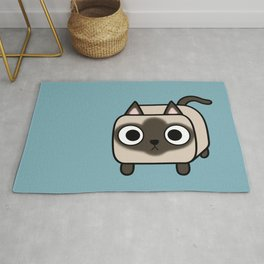 Cat Loaf - Siamese Kitty with Crossed Eyes Rug