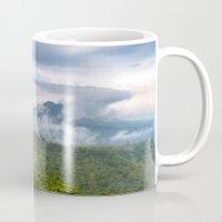 indonesia Mugs featuring Mt Batur - Bali, Indonesia by Jennifer Stinson