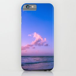 Beautiful Purple Tropical Beach Sunset iPhone Case