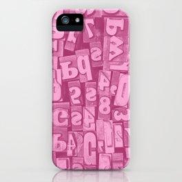 Millie's Wooden Letterpress Blocks iPhone Case