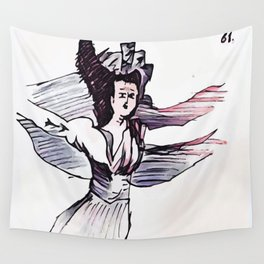 Los Caprichos ~ 61 ~ They Have Flown Wall Tapestry