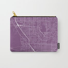 Provo Map, USA - Purple Carry-All Pouch