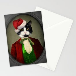 Puccini goes to a Christmas Party Stationery Cards