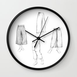 What's in my sketchbook_Culottes Wall Clock