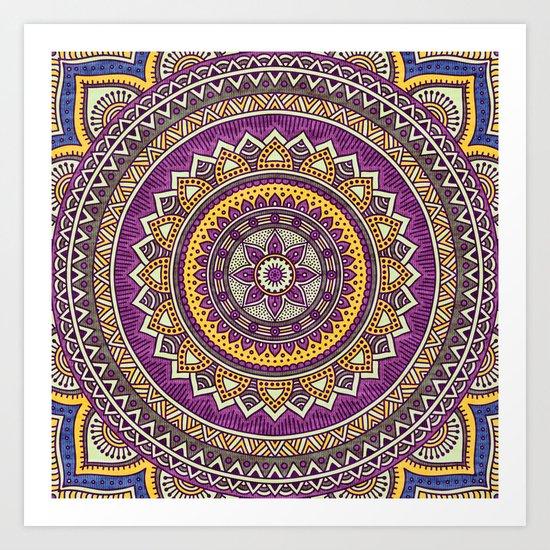 Hippie mandala 62 Art Print
