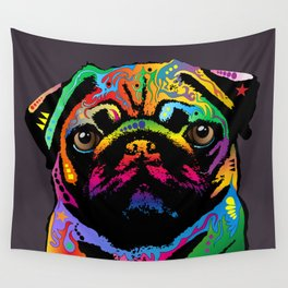 Pug Dog Wall Tapestry