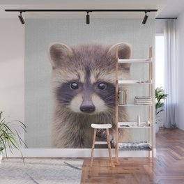 Raccoon - Colorful Wall Mural