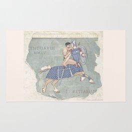 Centaurus and Retiarius Rug