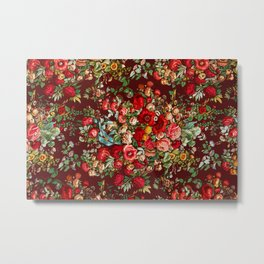 Chintz pattern from the Industrial arts of the Nineteenth Century Metal Print
