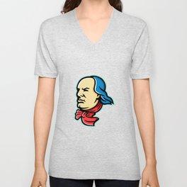 Benjamin Franklin Mascot Unisex V-Neck