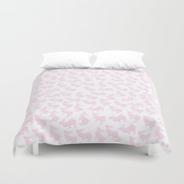 Pastel Pink Rabbits Duvet Cover