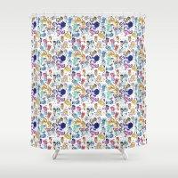 mlp Shower Curtains featuring Friendship is Magic by senseijiufu