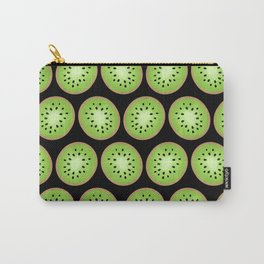 Kiwi Pattern     Black Background Carry-All Pouch