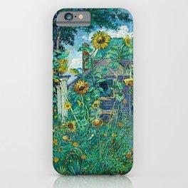 Sunflowers & Artist's House, Hampton Bays by David Davidovich Burliuk iPhone Case