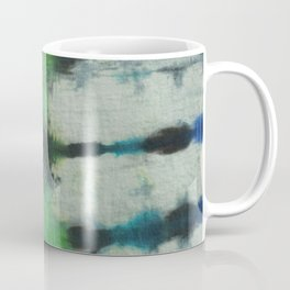 Tie Dye in Blue and Green 3 Coffee Mug