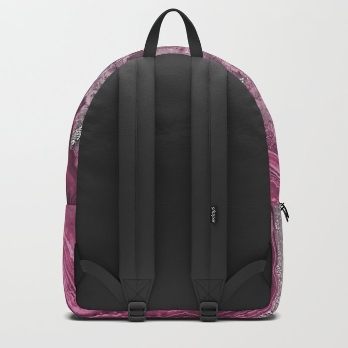 Purple and pink agate mineral gem stone- Beautiful backdrop Backpack