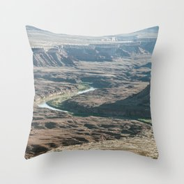Green river in Canyonlands Throw Pillow