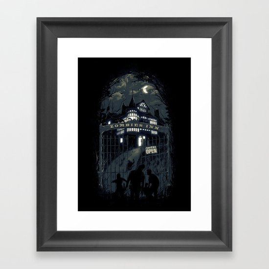 Zombies Inn Framed Art Print