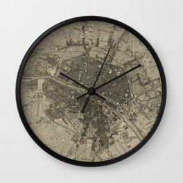 Vintage Map of Paris France (1735) Wall Clock