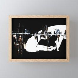 She- Intersected On Black 3 Framed Mini Art Print