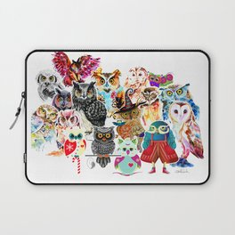OWLS COLLAGE Laptop Sleeve