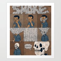 smoke Art Prints featuring Smoke by Theodore Taylor III