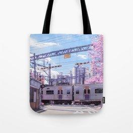 Seoul Anime Train Tracks Tote Bag