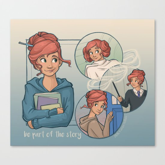Be Part of the Story Canvas Print