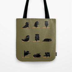 Black Pug Yoga Tote Bag